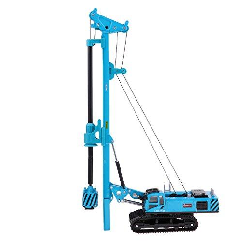 Perfk 1:64スケール 掘削車モデル ダイキャスト車両 子供 おもちゃ ギフト 全2色 - 青の商品画像