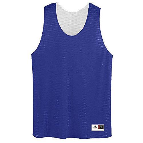 Augusta Sportswear Men's Tricot mesh Tank, Purple/White, X-Large ()