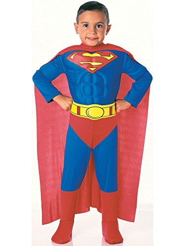 Super DC Heroes Deluxe Muscle Chest Superman Costume, Toddler ()