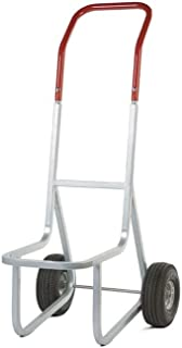 """product image for Stacked Chair Dolly With Pneumatic Wheels Gray/Red Paint Dimensions: 14.5""""W X 33.5""""D X 48""""H Weight: 31 Lbs"""