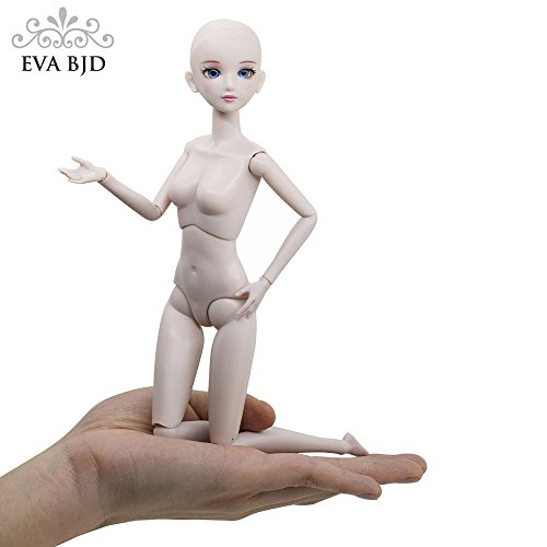 EVA BJD Customized Doll 1/6 SD Doll 11 inch Ball Jointed Dolls BJD Doll + Basic Makeup for DIY Dolls -
