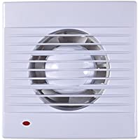Extractor Fan,110V Wall-Mounted One Speed Setting Shutter Ventilating Exhaust Fan for Bathroom Toilet Kitchen Window Wall (4inch)
