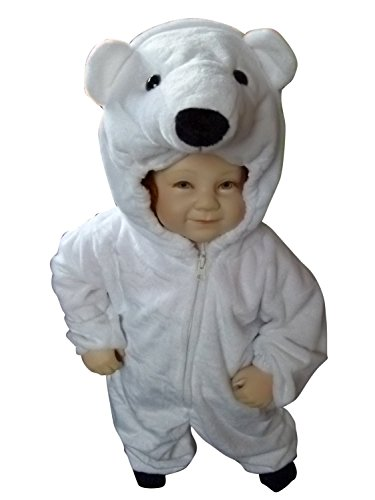 [Fantasy World F24 Kids Polyester Polar Bear Halloween Costume, Size - 6] (Cute Baby Boy Costumes Ideas)