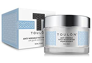 Glycolic Acid Cream 10 Face Moisturizer with Jojoba Oil: Alpha Hydroxy Acid Anti-Wrinkle Creme; Free Gift/No Risk made by TOULON