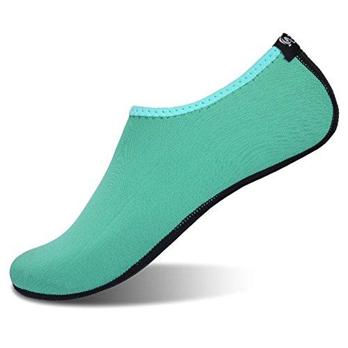 JIASUQI Womens and Mens Summer Outdoor Barefoot Water Skin Shoes Aqua Socks for Beach Swim Surf Yoga Exercise