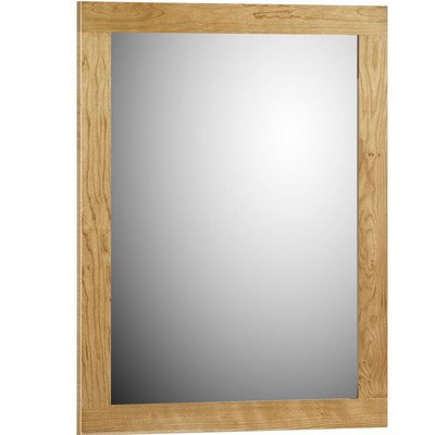 Simplicity by Strasser 30 in. Framed Mirror with Square Edge in Satin -