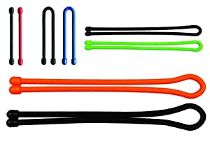 Nite Ize Original Gear Tie, Reusable Rubber Twist Tie, Made in the USA, Assortment, 8 Pack