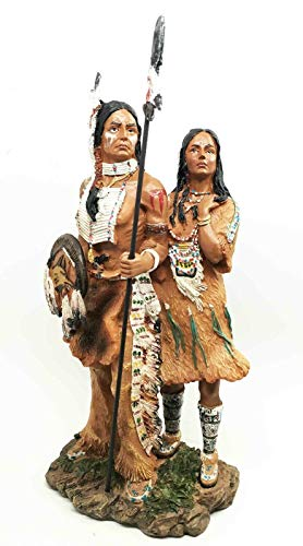 - ShopForAllYou Figurines and Statues Native American Large Indian Warrior Family Winter Migration Figurine Sculpture