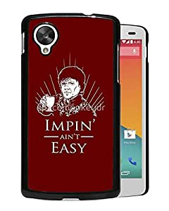 New Fashion Custom Designed Cover Case For Google Nexus 5 With Impin ain't Easy Game Of Thrones Funny Black Phone Case