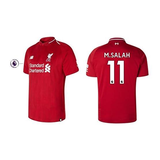 NewBala Maillot pour Homme FC Liverpool 2018-2019 Home PL - M. Salah 11, L