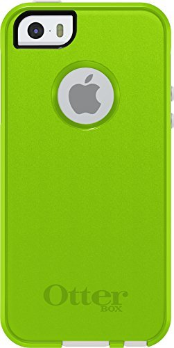 OtterBox Commuter Case for Apple iPhone 5/5s/SE - Retail Packaging - Glow Green/White