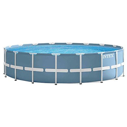 41q6343oBTL. SS500 Piscina circular, de estructura metálica y lona en color azul celeste, capacidad para: 24.311 litros/agua Incluye depuradora de cartucho de 5.678 litros/hora de cartucho Tipo A Sistema de aireación Hydro Technology: mejora la filtración, aumenta la pureza del agua y mejora la cantidad de iones negativos sobre la superficie del agua