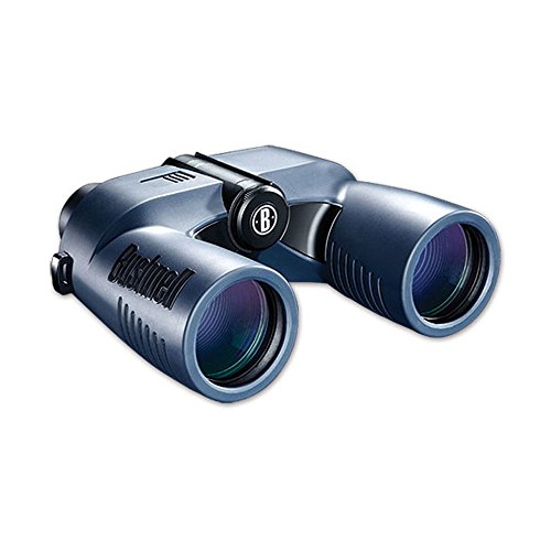Bushnell Marine 7 x 50mm Porro Prism Waterproof/Fogproof Binoculars with Digital Compass and Tilt, (Read Marine Compass)