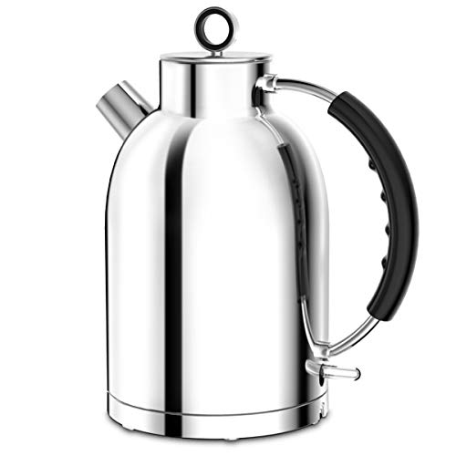 Electric Kettle, ASCOT Stainless Steel Electric Tea Kettle, 1.7QT, 1500W, BPA-Free, Cordless, Automatic Shutoff, Fast Boiling Water Heater - Bright Silver