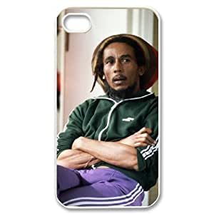 C-EUR Customized Print Bob Marley Pattern Back Case for iPhone 4/4S