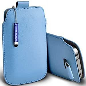 Viesrod Shelfone Stylish Protective Leather Pull Tab Skin Case Cover For Blackberry STORM 9530 L Includes Stylus Pen Baby...