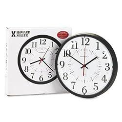 Howard Miller MIL625323 Alton Auto Daylight Savings Wall Clock