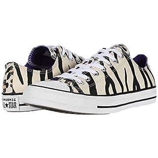 Converse Chuck Taylor All Star Low Top Zebra Animal Print Sneaker, Driftwood/Black/Light Fawn, 14 Women/12 Men