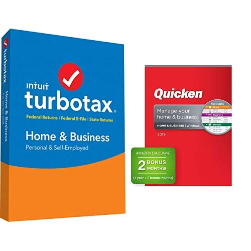 TurboTax Home & Business + State 2018 Fed Efile PC/MAC Disc with Quicken Home & Business 2019 Personal Finance Software 1-Year + 2 Bonus Months]()