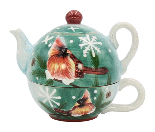Cosmos Cardinal Tea For One, Multicolor (Cookie Jar Teapot)