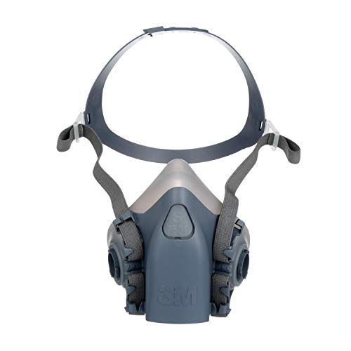Series Silicone Half Mask Respirator - 3M Half Facepiece Reusable Respirator 7501/37081(AAD), Respiratory Protection, Small