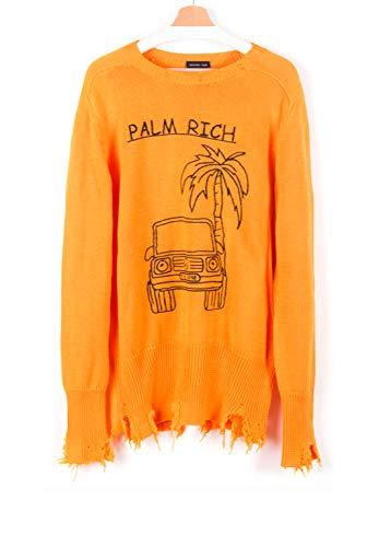 Rich Oversize Embroidery Palm Unisex l Riccardo Crewneck Comi aXcqp1wP