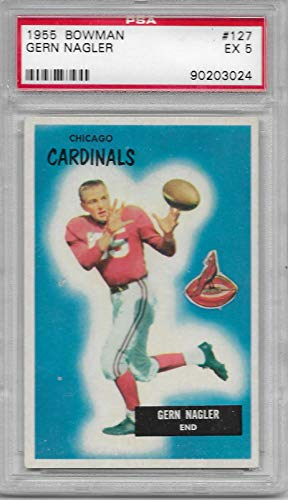 1955 Bowman Football Gern Nagler Card # 127 PSA 5 Excellent for sale  Delivered anywhere in USA