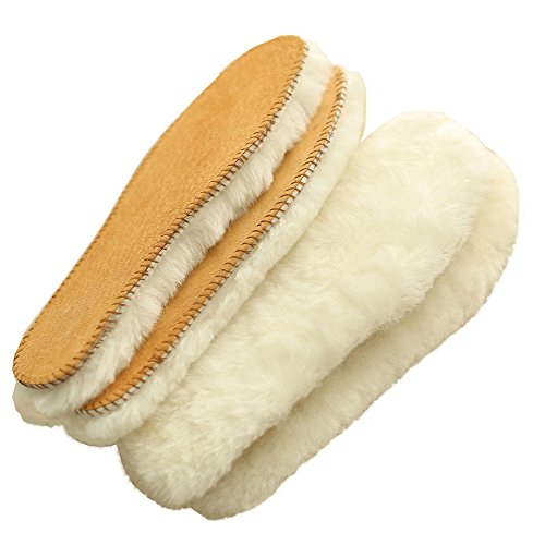 Price comparison product image Australian Sheepskin Super Thick Premium Warm Shoe Insoles Durable & Extra Fluffy (Women US sIze 5)