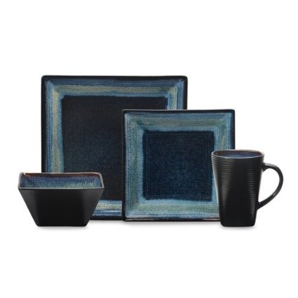 Oneida Adriatic 16pc Dinnerware Set Blue  sc 1 st  Amazon.com & Amazon.com | Oneida Adriatic 16pc Dinnerware Set Blue: Dinnerware ...