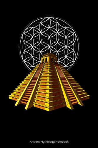 Ancient Mythology Notebook: Aztec Pyramid Sacred Geometry Notebook