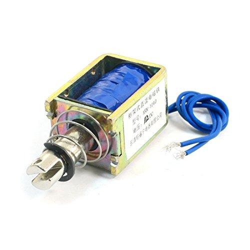 Uxcell Spring Load Push Pull Electromagnet Solenoid, DC 12V, 3.1 kg/6.8  lb., 10 mm (3.1 Pull)