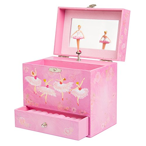 Ballerina Music Box for Girls - Dancing Musical Jewelry Box
