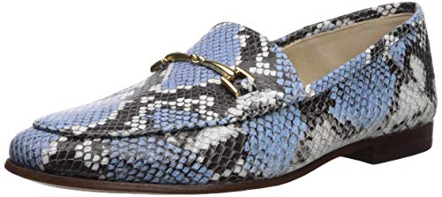 Sam Edelman Women's Loraine Loafer, Cornflower Blue Multi Snake Print, 6 M US