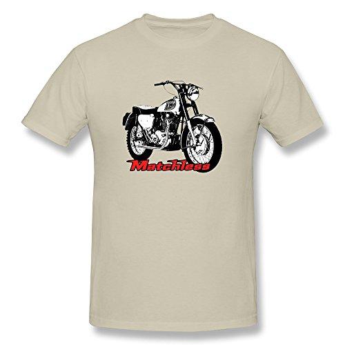 JUJ Matchless Motorcycle Men's Crew Neck T Shirt Natural XX-Large