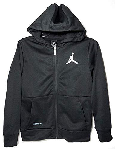 Nike Air Jordan Boys Jump-Man Therma Fit Zip Jacket - Black (X-Large (13-15 - Jacket Hoody Jordan Air