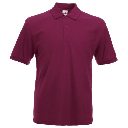 Fruit of the Loom - Polo - Homme - Rouge - Bordeaux - Large