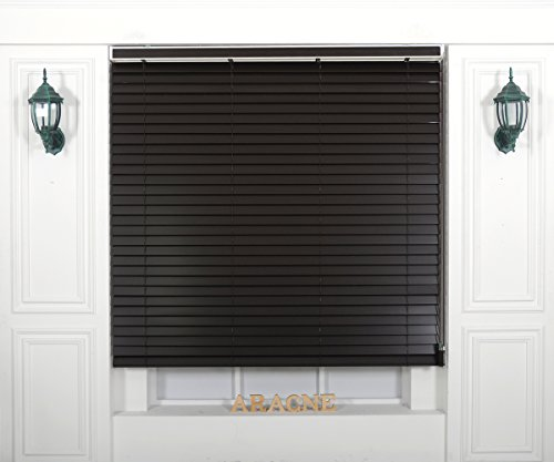 Foiresoft Custom Cut to Size, [Winsharp Wood Uvbass, uvbass_533, W 83 x H 55 (Inch)] Horizontal Window Real Wood(Basswood) Blinds & Treatments, Maximum 95 Inch Wide 103 Inch Long ()