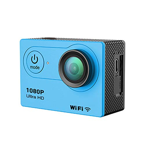 Aoile Cámara de Acción Ultra HD 4K WiFi Mando a Distancia Deportes Videocámara DVR DVR Impermeable Pro Cámara, Azul