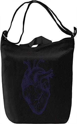 Heart Borsa Giornaliera Canvas Canvas Day Bag| 100% Premium Cotton Canvas| DTG Printing|