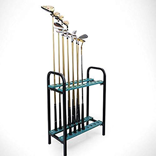 CRESTGOLF Golf Club Organizers Golf Club Display Shelf-----New Design Green, ()