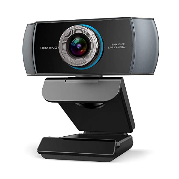Unzano Full HD Webcam 1080P Streaming Camera