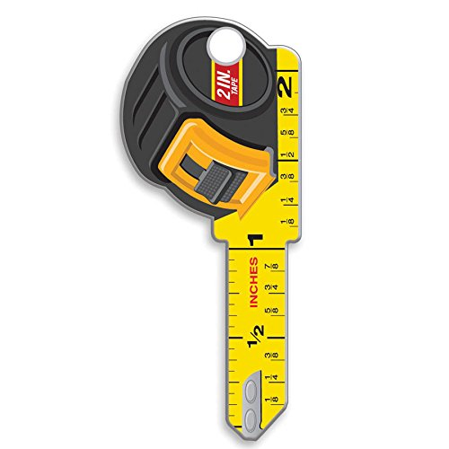 Lucky Line Key Shapes, Tape Measure, House Key Blank, SC1, 1 Key (B126S) (Key One Blank)