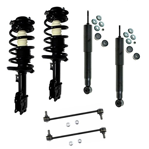 (Detroit Axle - Both (2) New Front Complete Quick Strut Assembly Set + Both (2) Rear Shocks + (2) Front Sway Bar Links for Malibu - without RPO Code FE5 Performance Suspension])