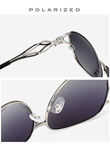 Diamant Revêtement Lunettes UV400 Mode Soleil polarisées métal Soleil de de Conduite en Xinke Femme Lunettes Boîte 1 de CXxqwvn5SH