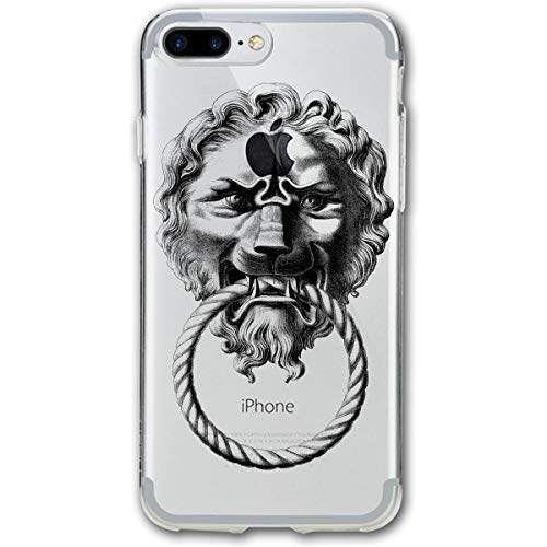 (Retro Lion Door Knocker iPhone 7/8 Plus Case Cover Phone Classic Shell Full Protective Case 5.5