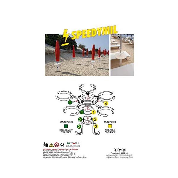 Speedymil Porta Bicchieri e Porta Borse per ombrelloni (Verde) 7 spesavip