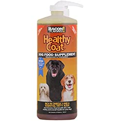 HealthyCoat Dog Food Supplement for Excessive Shedding, Itching, Hot Spots, Allergies, 32 oz., Clear
