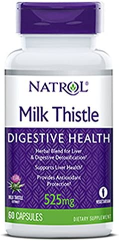 Natrol Milk Thistle Advantage 525 mg, 60 Vegetarian Capsules 2 Pack