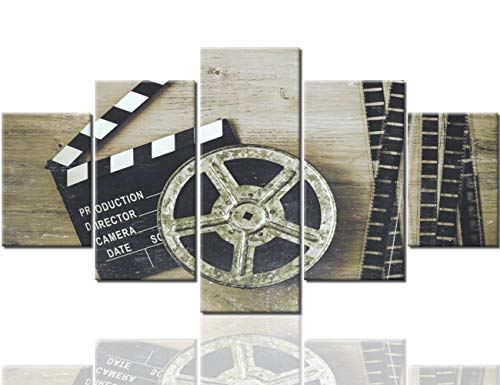 Black and White Pictures Metal Film Reel Paintings