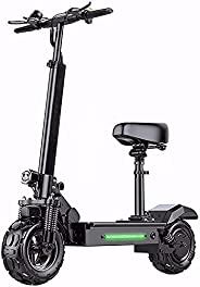 JJGS Electric Scooter, Folding Electric Scooters for Adults, 11 inch Off-Road Fat Tire/ABS Electronic Brake fo